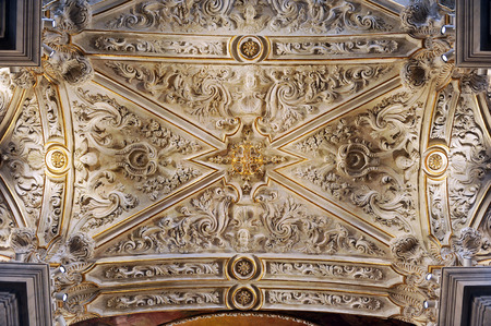 mujeres: Chapel Hospital de Mujeres, baroque vault, Cadiz, Andalusia, Spain