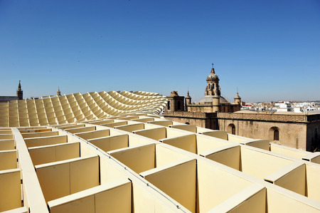 scenical: Church of the Incarnation, Metropol Building, Setas, contemporary architecture, Seville,  Andalusia, Spain