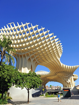 scenical: Metropol, Panoramic view, modern architecture, Seville, Andalusia, Spain