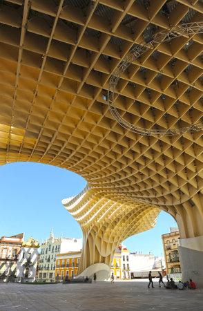 scenical: Main Square, Metropol, Setas, Seville, Andalusia, Spain Editorial