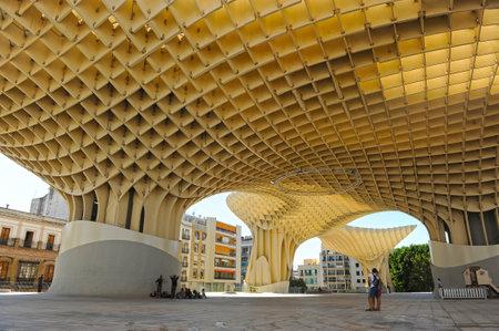 Panoramic view, Main Square, Metropol, Setas, Seville, Andalusia, Spain Stock Photo - 30630360