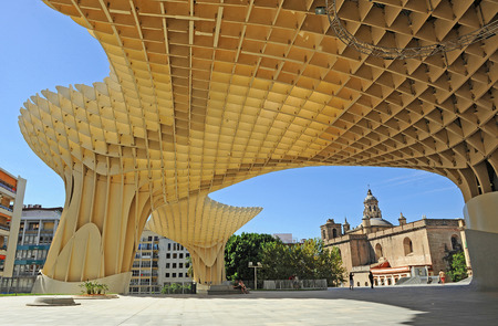 scenical: Church of the Incarnation and Metropol, Setas, modern architecture, Seville,  Andalusia, Spain