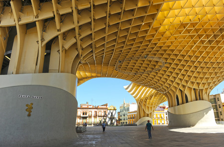 scenical: Main Square, Metropol, Seville, Andalusia, Spain