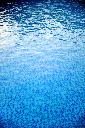 Swimming pool clear blue water