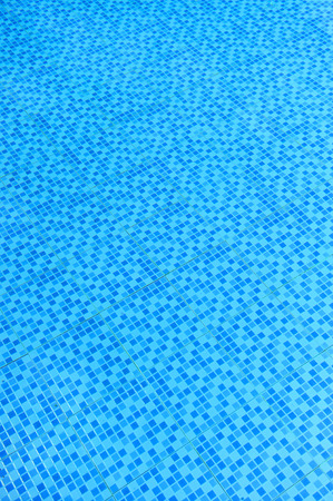 Transparent blue water, swimming pool, water jet, summer holiday Banco de Imagens
