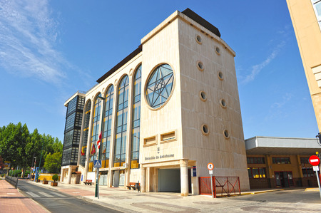 bus station: Bus station and musical conservatory, Municipal Building, Puertollano, Ciudad Real, Castilla la Mancha, Spain