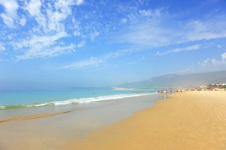 tarifa: Panoramic view, Bolonia beach, Costa de la Luz, Cadiz, Andalusia, Spain