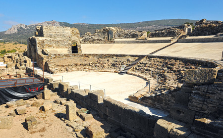 tarifa: Archaeological site, theater of the Roman city of Baelo Claudia, Tarifa, Cadiz province, Spain Editorial