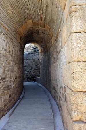 tarifa: Theater of the Roman city of Baelo Claudia, Archaeological site, Tarifa, Cadiz province, Spain