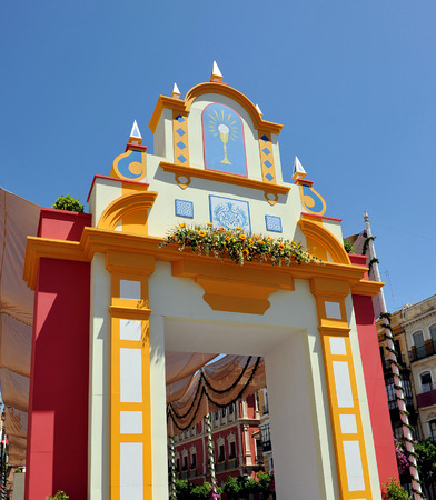 The day of Corpus Christi in Seville, San Francisco square, Andalusia, Spain