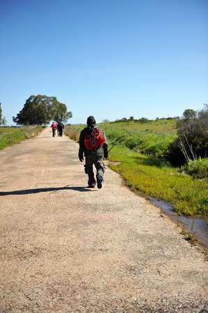 ruta: Backpackers, Camino de Santiago, Merida, Via de la Plata, Badajoz province, Extremadura, Spain