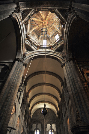 xacobeo: Interior of the cathedral of Santiago de Compostela, way of St. James, Galicia, Spain