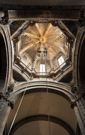 Interior of the cathedral of Santiago de Compostela, way of St. James, Galicia, Spain