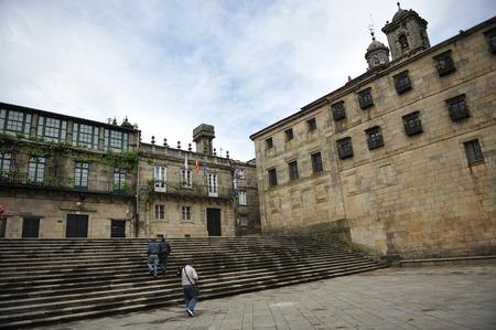 way of st james: Quintana Square, Santiago de Compostela, Galicia, Spain