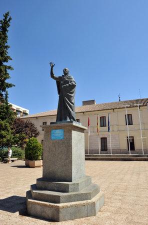 merced: Square of the Merced, San Juan de Avila, Ciudad Real, Castilla la Mancha, Spain Editorial