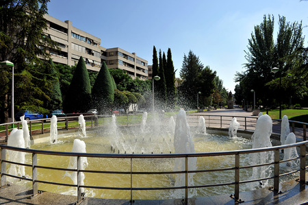 pablo: Viale di Pablo Picasso, lungomare, giardini, Ciudad Real, Castilla la Mancha, Spagna Archivio Fotografico