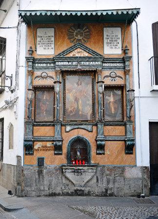 retablo: Retablo religioso de San Rafael en las calles de C�rdoba, Andaluc�a, Espa�a