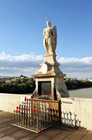 san rafael: San Rafael altar in the Roman bridge, Cordoba, Andalusia, Spain