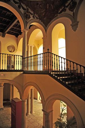 episcopal: the Palacio Episcopal, main staircase, Malaga, Andalusia, Spain Editorial