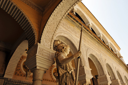 Renaissance architecture in Palace of Pilatos, Seville, Andalusia, Spain