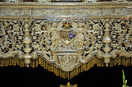 holy week in seville: Detail of a Paso, Holy Week of Seville, Andalusia, Spain