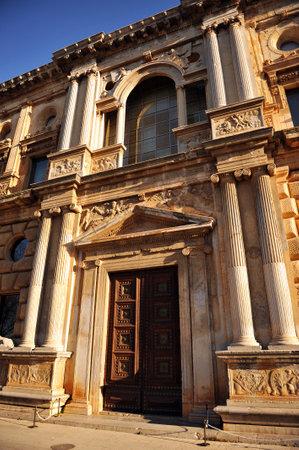 Renaissance Architecture, Palace of Carlos V, Granada, Andalusia, Spain Redakční