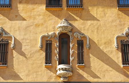 gran via: Modernist architecture, Gran Via, Granada, Andalusia, Spain Stock Photo