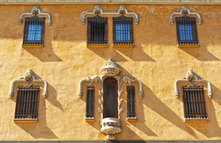 Modernist architecture, Gran Via, Granada, Andalusia, Spain Stock Photo