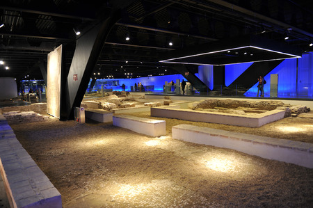 incarnation: Ruins of the ancient Roman city of Hispalis, Antiquarium, Seville, Andalusia, Spain