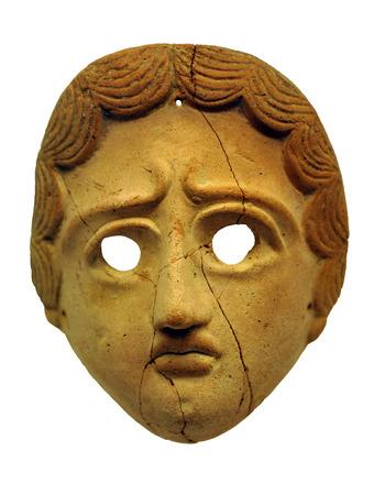 Roman mask, theater, terracotta, ceramic photo