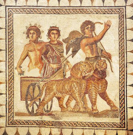 bacchus: Roman mosaic, Triumph of Bacchus
