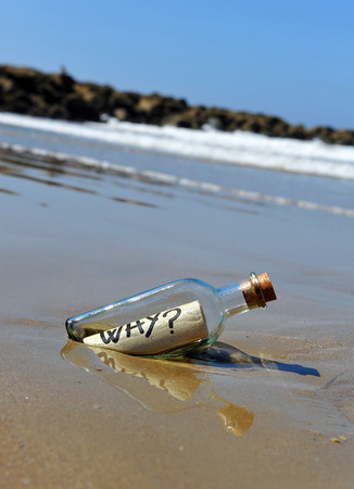 Message in a bottle, question mark, question, why