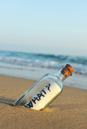 Message in a bottle on the beach, question, what