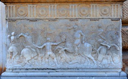 carlos: Soldiers in battle, Palacio de Carlos V, Granada, Spain