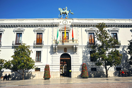 municipalities: City Hall of Granada in Andalusia, Spain