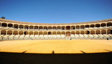 semibreve: Bullring in Ronda, Malaga province, Andalusia, Spain Editorial