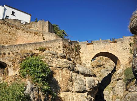 ronda: Old Bridge, Ronda, Malaga province, Andalusia, Spain
