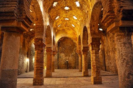 Hammam, bains arabes à Ronda, Malaga, Andalousie, Espagne Banque d'images - 33861091