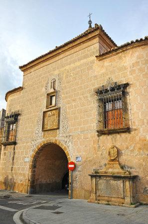 ramparts: Trujillo gate, ramparts of Plasencia, Caceres province, Extremadura, Spain