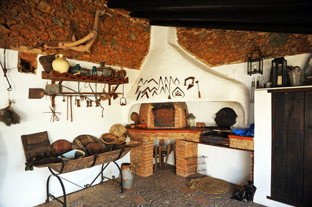 Typical kitchen of a country house, Andalusia, Spain