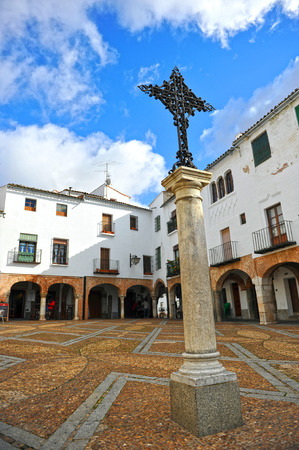 badajoz: Plaza Chica, Zafra, Badajoz province, Spain Stock Photo