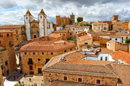 Vue panoramique de Caceres, en Estrémadure, en Espagne Banque d'images - 34430090