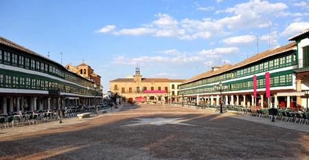 Plaza Mayor, the main square, Almagro, Province of Ciudad Real, Castilla la Mancha, Spain