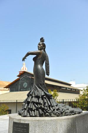 danseuse flamenco: Conchita Aranda, Cadix danseuse de flamenco, quartier de Santa Maria, en Andalousie, Espagne