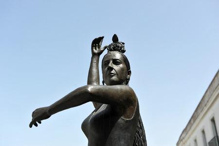 danseuse de flamenco: Conchita Aranda, Cadix danseuse de flamenco, quartier de Santa Maria, en Andalousie, Espagne