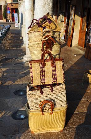 almagro: Spanish handicrafts, esparto grass objects, Almagro, Castilla la Mancha, Spain