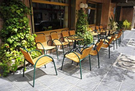 brasserie: Street cafe, terrace restaurant, Spain