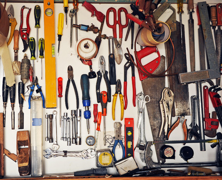 panoply: Tool cabinet in the garage of the house, do it yourself