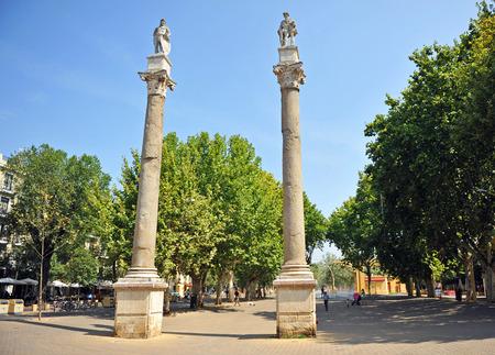 steelyard: Alameda de Hercules, Seville city, Andalusia, Spain