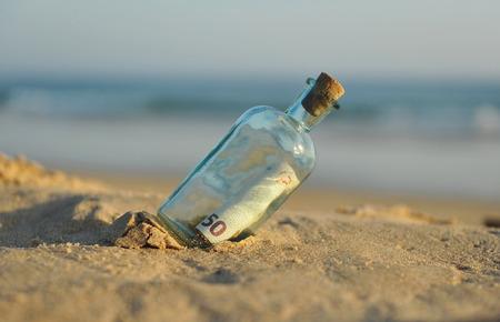 50 euro bills in a bottle found on the beach